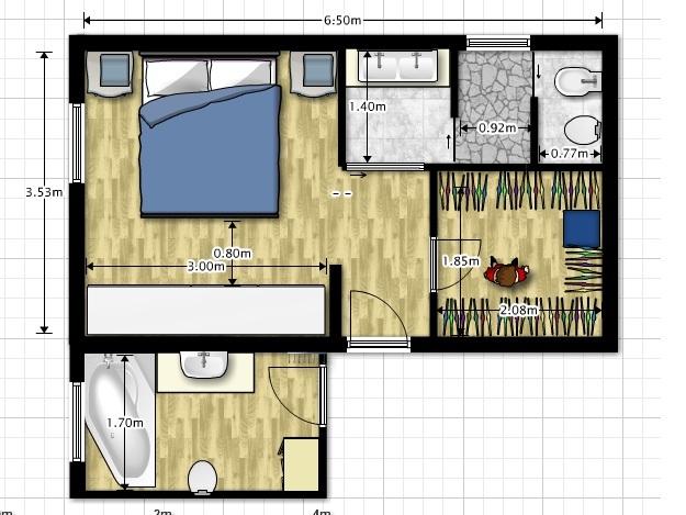 Forum soluzione per il bagno della camera - Disegnare il bagno ...