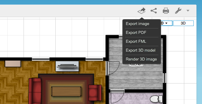 Floorplanner export and share