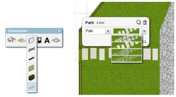 Paths and fences in Floorplanner