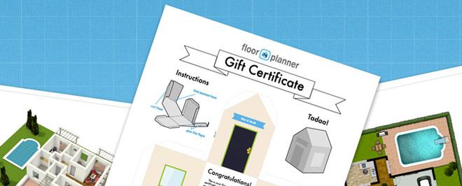 Gift certificate blog for Www floorplanner